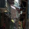 Narrow street in the Oki-shima town