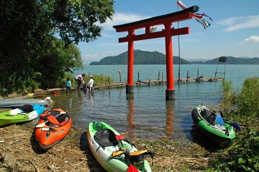 """Torii"" gate at Itsuku-shima Shrine"